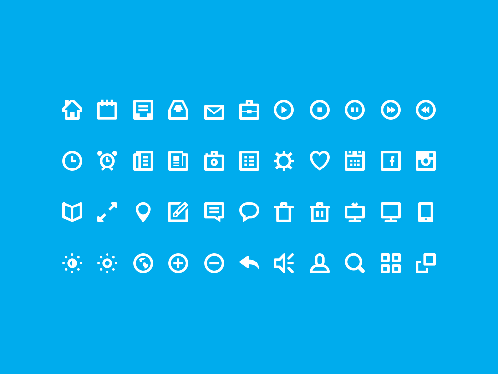 44 Free Vector Icons Created in Photoshop