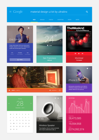 Material Design UI Kit