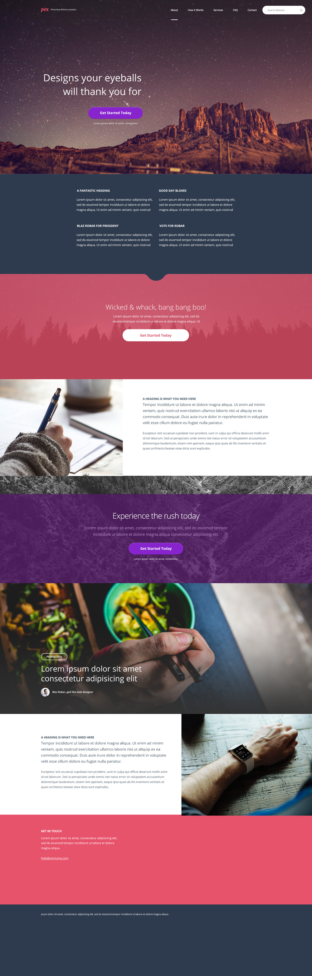 Free Homepage Template PSD