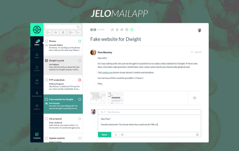 Deeziner Jelo Mail App Free Psd Deeziner