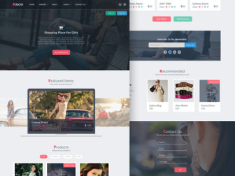 Pakhi Ecommerce Free PSD Template