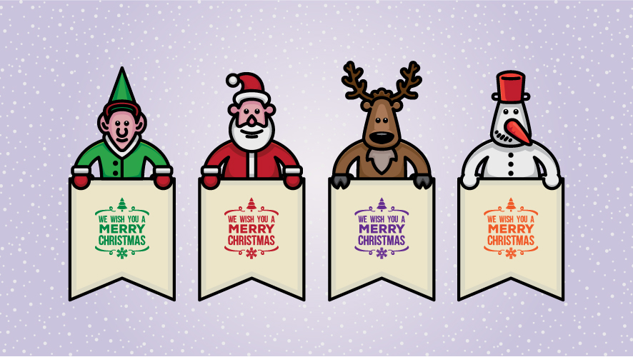 Free Christmas Character Illustrations