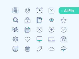 Ceres Vector Icons Set Vol.1